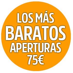 Aperturas 75€ IVA incluido